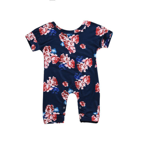 Newborn Toddle Infant Baby Kids Girls Clothing Romper Cotton Floral Short sleeve Summer Casual Jumpsuit Clothes Baby Girl 0-24M