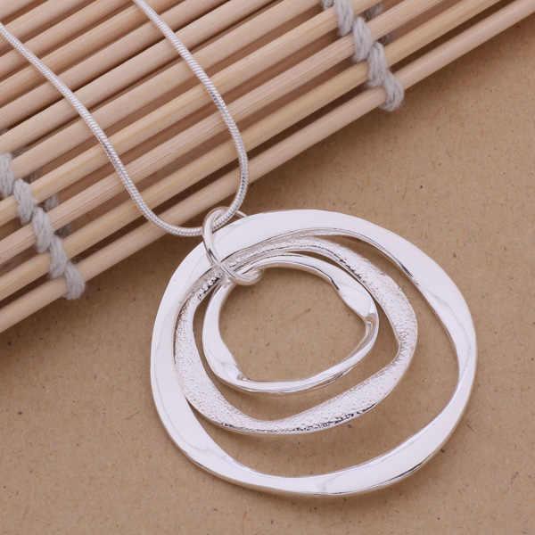 AN200 Hot 925 srebro naszyjnik ze srebra próby 925 modny wisiorek art. 3 okrągłe taśmy/gjqapaxa aoeajfla