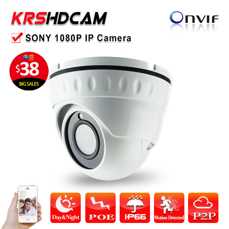 1920*1080 Mini 2MP POE IP camera Full HD 1080p SONY323 onvif2.4 Indoor Vandalproof Night Vision Security cameras de seguranca hbss 16ch full hd night vision motion detection onvif 1920 1080p p2p poe fixed lens email alarm indoor security system