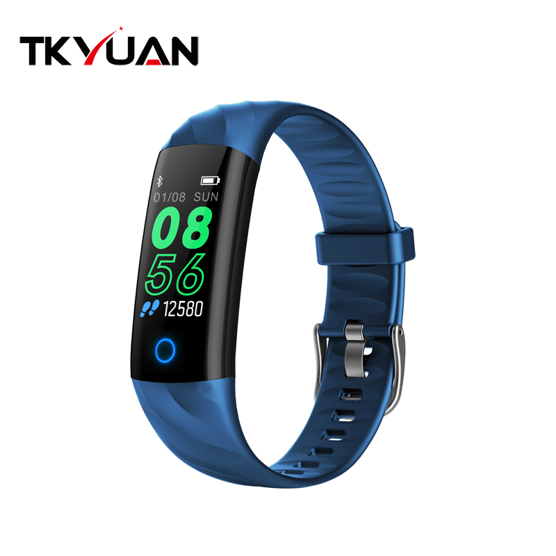 TKYUAN S5 smart bracelet color screen heart rate blood pressure belt breathing light Bluetooth step by step call reminder