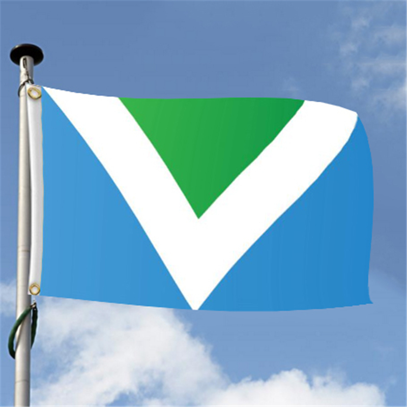 15pcs The International Vegans Flag 3x5 FT 150X90CM Banner 100D Polyester Custom Flag Grommets For World