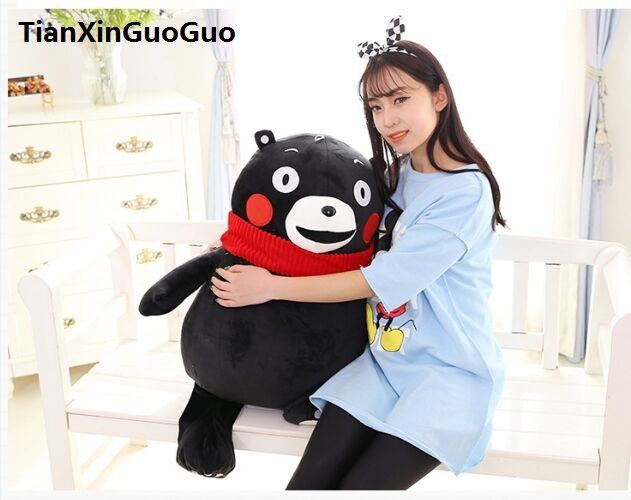 stuffed toy large 85cm lovely black bear plush toy soft doll hugging pillow birthday gift s0515 lovely panda in yellow cloth large 90cm plush toy panda doll soft hugging pillow christmas birthday gift x040