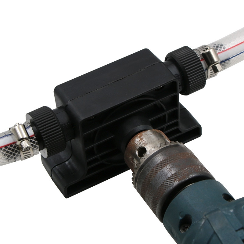 8mm Round Shank Electric Drill Pump Portable Self Priming Transfer Oil Fluid Water Pumps With Two Connectors Power Accessories