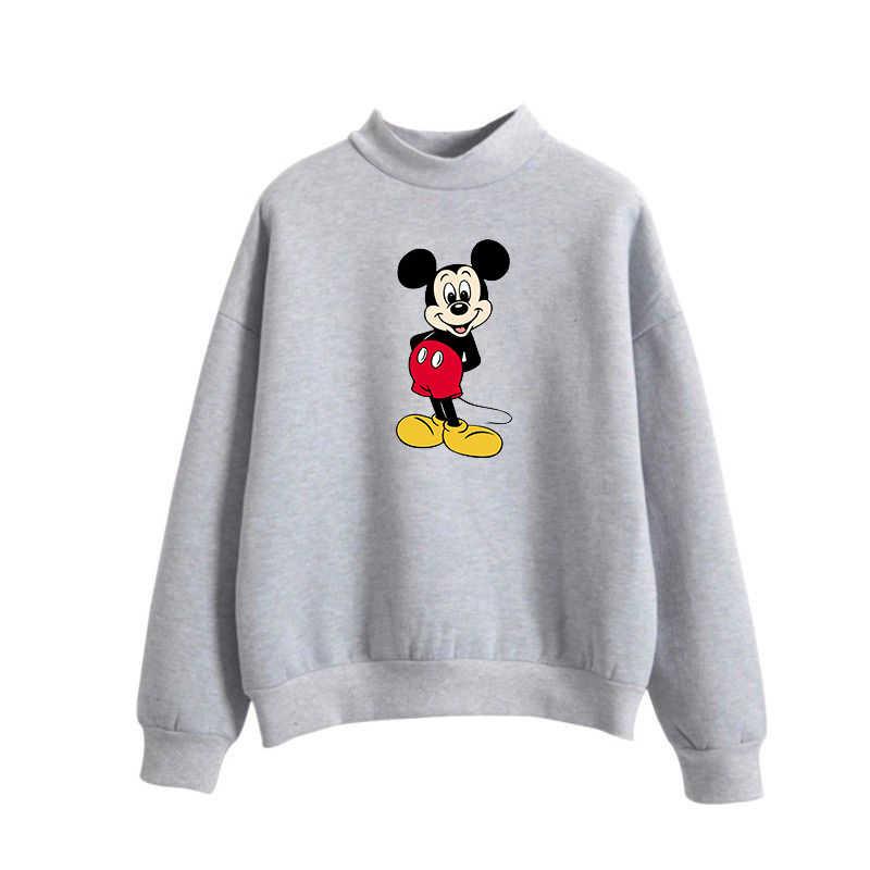 cfeba135a ... Mickey Mouse Cute Kawaii Cartoon Print Women Pink Hoodies Cotton  Tracksuit Sweatshirt Brand Clothing Women Hoodies