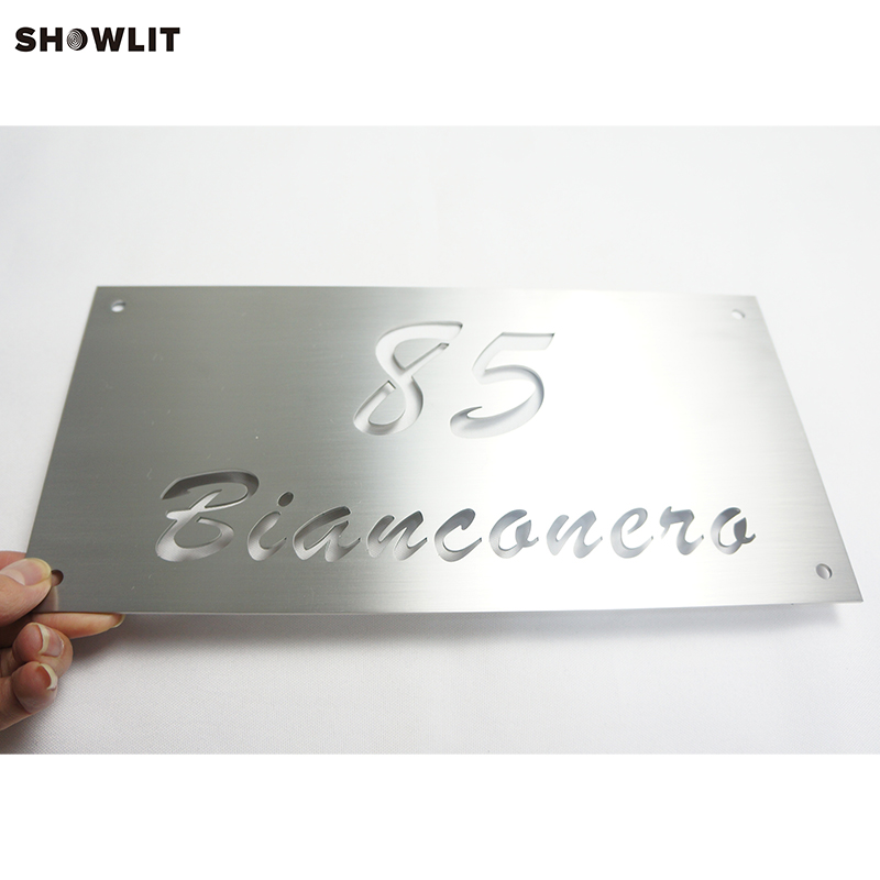 Custom Made 2mm Chrome Signs 6*12 Address Gate Plate SignsCustom Made 2mm Chrome Signs 6*12 Address Gate Plate Signs