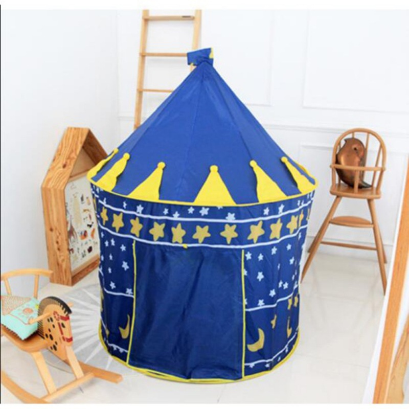 Portable Prince Folding Tent Mosquito Net Kids Outdoor Tents Castle Tent Play Yurt Game House