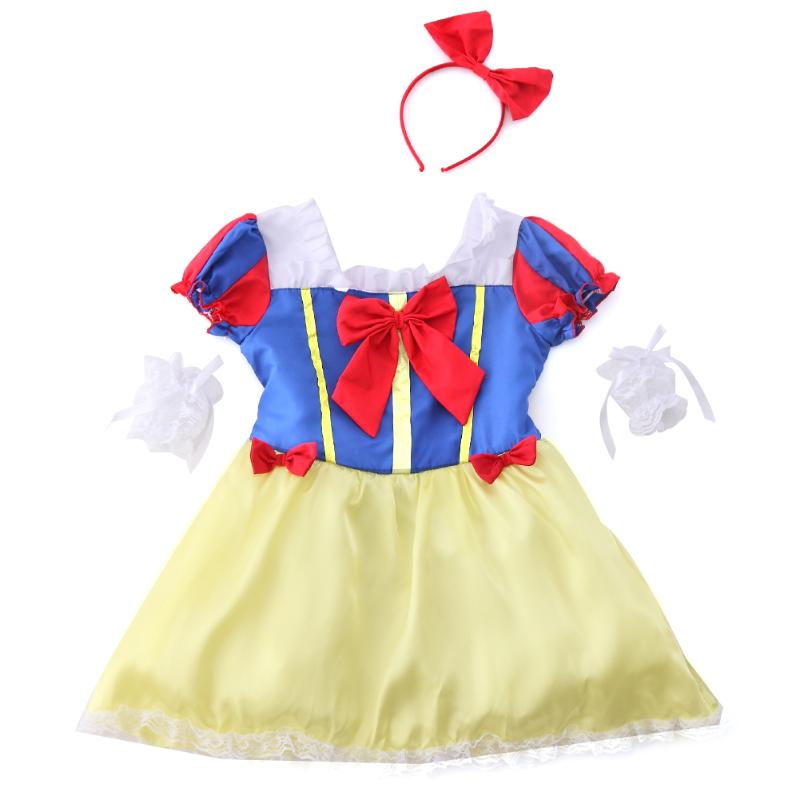 Kids Fair Girls Christmas Costumes Halloween Cosplay Girls Princess Snow White Costume Carnival Party Dress High Quality Dress christmas halloween princess dress cosplay snow white dress costume belle princess tutu dress kids clothes teenager party 10 12