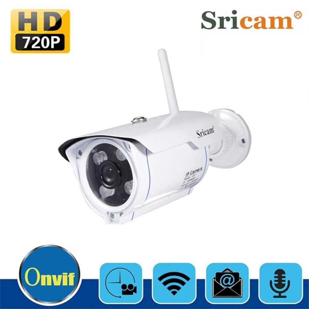 Sricam SP007 Wi-Fi 720 P IP Камера Беспроводной Поддержка P2P Onvif телефонная сеть удаленного просмотра Водонепроницаемый открытый пистолет Тип Камера Е...