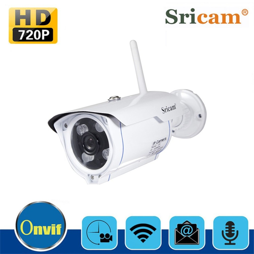 Sricam SP007 WiFi 720P IP Camera Wireless Support P2P Onvif Network Phone Remote View Waterproof Outdoor Gun Type Camera EU US wifi ip wireless camera p2p wireless network camera mobile phone remote monitoring at the store
