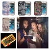 Fashion Flowers Illuminated Selfie Case Light Up LED Cell Phone Cases Coque For IPhone 5 5S
