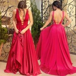 Berylove, сексуальное красное вечернее платье, 2019, элегантное, атласное, вечернее платье, длинное, официальное, Abiye, для выпускного, вечерние плат...
