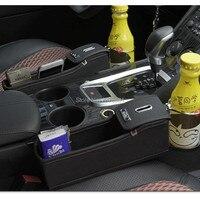 Car Seat Crevice Pockets Leak Proof Storage Box for bmw f10 audi a4 b7 skoda octavia a7 peugeot 3008 hyundai ix35 FOR suzuki