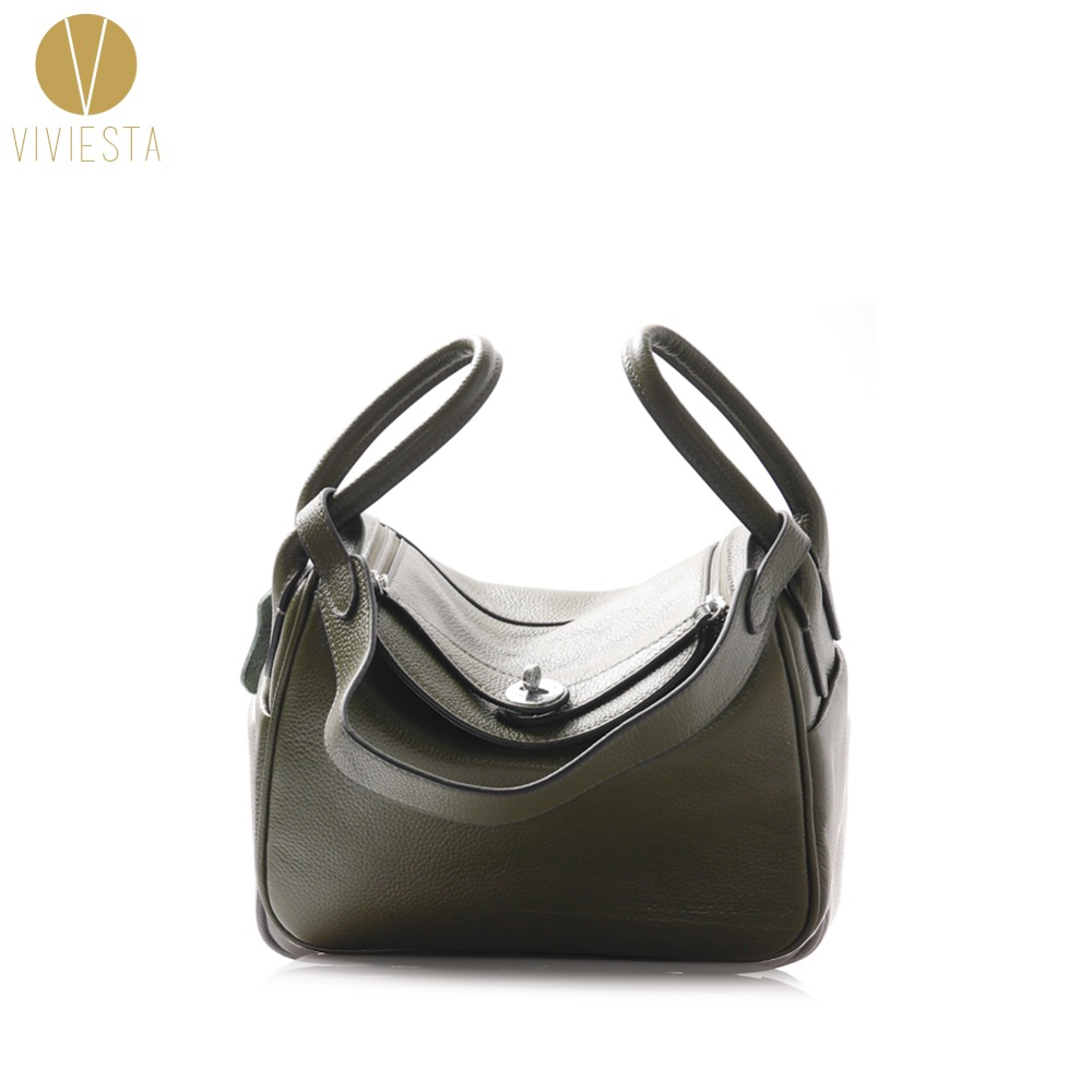 GENUINE SOFT LEATHER TOP HANDLE BAG - Women's 2018 Famous Fashion Cowhide Casual Formal Brand Style Shoulder Tote Bag Handbag 2015 genuine leather women handbag new style shoulder bag famous brand lace women messenger bag fashion tote top handle bag