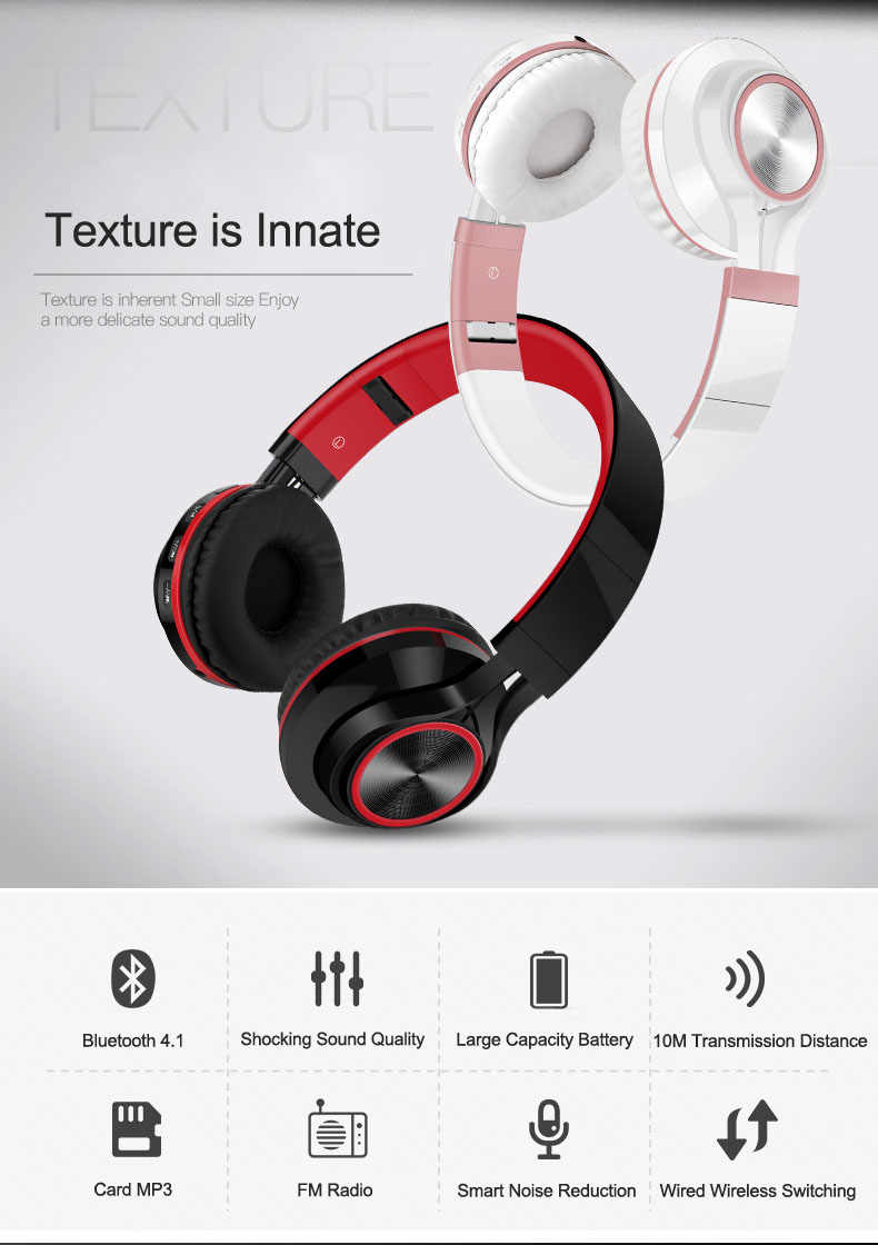 B7 Wireless Headphones Bluetooth Headset Foldable Headphone Adjustable Earphones With Microphone For PC Mobile phone Mp3