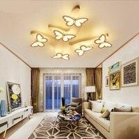 Простые современные светодиодные потолочный светильник Арт Бабочка Спальня лампа теплая детская исследование украшения освещение верхне