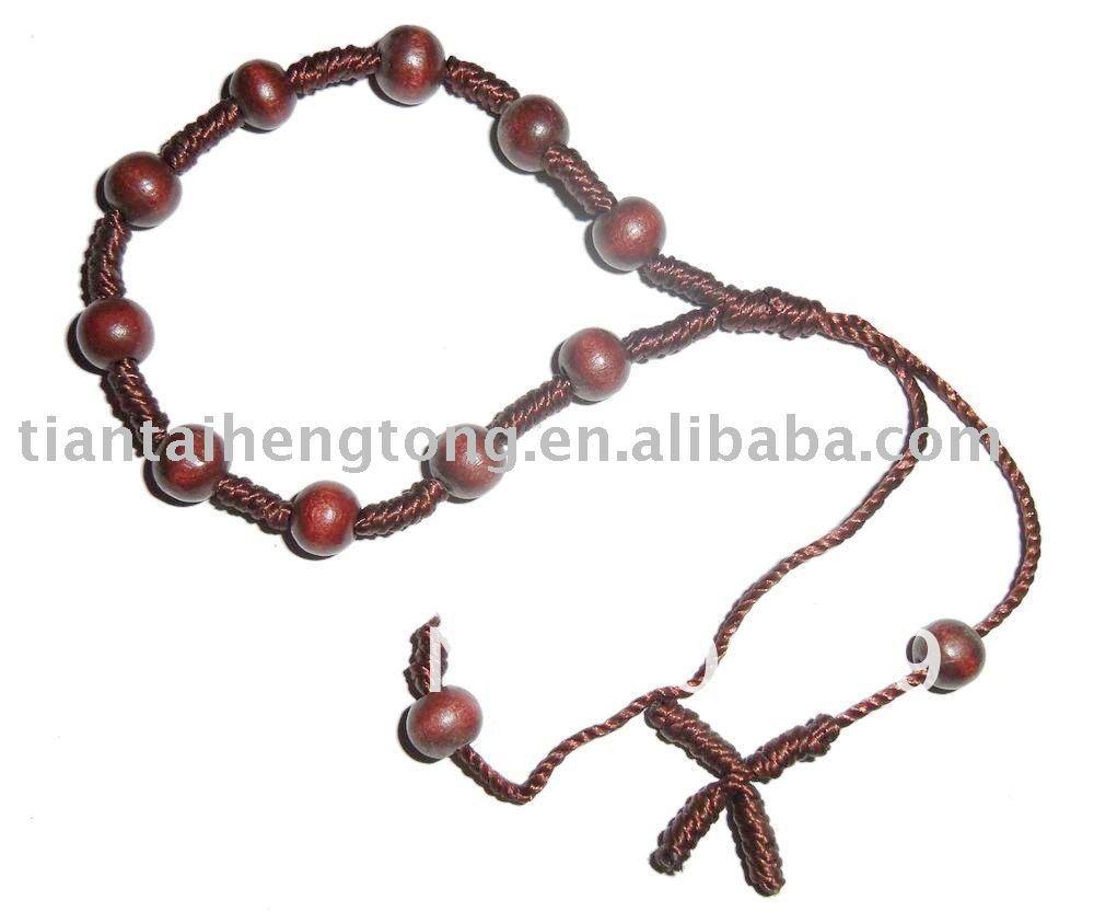 rope rosary bracelet knotted bracelet us574