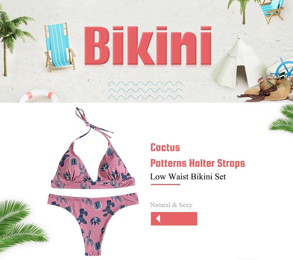 1fa09aeb67 2019 CharMma Women Bikinis Set Sexy Bathing Suits Cactus Printed ...
