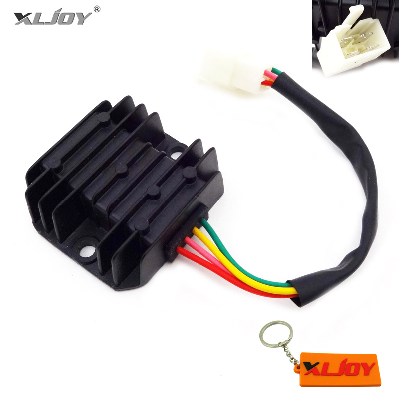 xljoy 4 wire male plug voltage regulator rectifier for gy6 moped rh aliexpress com
