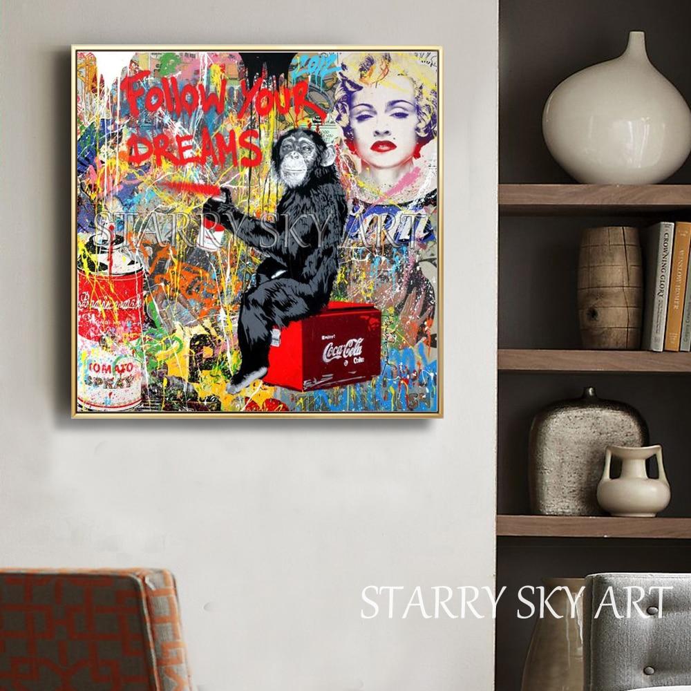Style Pop Art Pintura A Óleo sobre