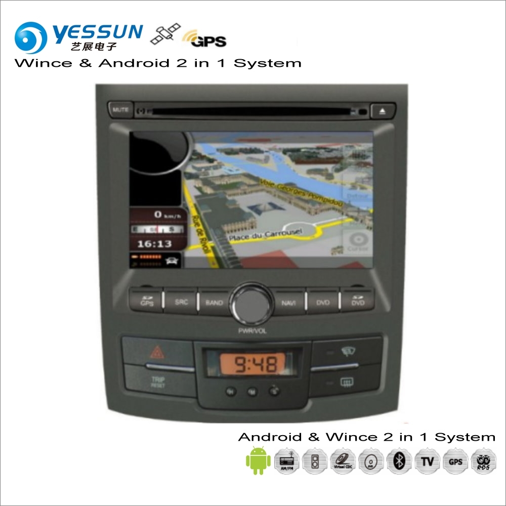 YESSUN For SsangYong Actyon Korando 2006~2014 Car Android Multimedia Radio CD DVD Player GPS Navi Navigation Audio Video Stereo yessun for mazda cx 5 2017 2018 android car navigation gps hd touch screen audio video radio stereo multimedia player no cd dvd