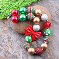 Free Shipping 3Pcs/Lot High Kids Chunky Bubblegum Necklace Girls Chunky Bow Beads Necklace Jewelry Fashion Bow Pendant Necklace