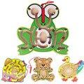 Деревянные Головоломки Животных Лягушка Утка Головоломки Раннего Обучения Игрушки Интеллектуальные Игры для Детей