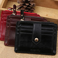 New Arrival Men's PU Leather Wallets Simple Business Style Coin Packet Bag Short Zipper Billfold Wallet Vintage Card Purse N4