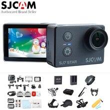 "SJCAM SJ7 Yıldız 4 K 30fps Wifi Eylem Kamera Gyro 2.0 ""dokunmatik Ekran Ambarella A12S75 Ultra HD Su Geçirmez Uzaktan Spor DV SJ Kam 7"