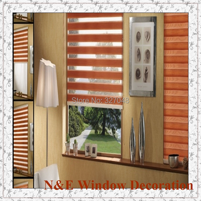 Free shipping Window blinds zebra roller blinds shades and waterproof window curtain for living room