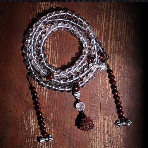 Perles de chapelet bouddhiste tibétain Mala Desginer tibétain 108 perles Mala pour Vajra prières bouddha