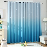 Korean style curtain Gradient Color Curtain Tulle Window Sheer Curtain For Living Room Bedroom Kitchen Window Screening Panel