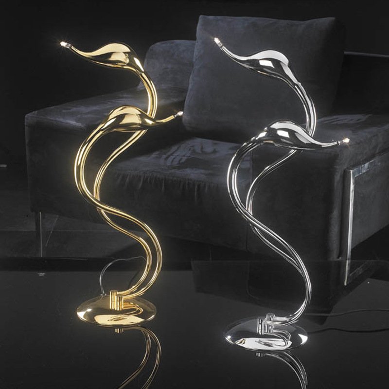 Italy Plated Metal Art Deco Swan Table Light 2 / 5 Lights G4 Chrome Gold Art Deco Art Deco Desk Lamp For Bedroom Study Room cs3310 remote preamplifier board with vfd display 4 way input hifi preamp remote control digital volume control board