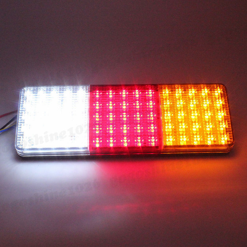 2PCS 75 LED Car truck trailer Tail Light Warning Lights Rear Lamps Waterproof Tailights Rear Parts Trailer Truck Light 12V image