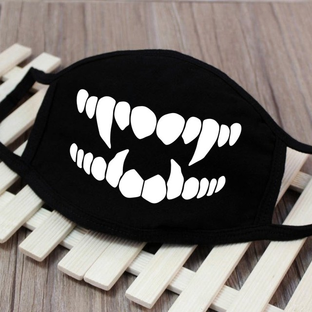 High Quality 1PC Cartoon Face Mask Funny Teeth Pattern Unisex Cute Anti-bacterial Dust Winter Cubre Bocas Hombre Mouth Mask 4