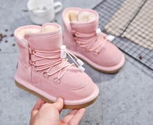 2019 new fashion lace children's shoes flowers girls bow boots baby snow boots baby shoes baby girl winter shoe