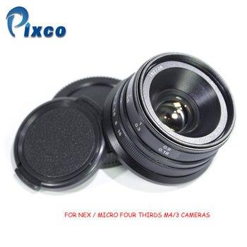 Pixco 25mm F1.8 M4/3 NEX HD.MC Manual Focus Lens for Sony Nex / Micro Four Thirds M4/3 Cameras GX8 GX85 G7 GF7 E-M10 II A7 A6500