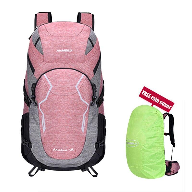 ANMEILU 50L sac à dos de sport de grande capacité imperméable à l'eau en plein air randonnée escalade sac de voyage avec couverture de pluie et casque Net couverture