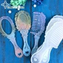 1шт расчески зеркала ремесла DIY прозрачный УФ смолы жидкого силикона сочетание формы для изготовления ювелирных изделий