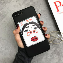 Funny Experssion Phone Cases For iphone 6 6S 7 8 plus For iphone X XR XS Max Case Silicone 5 5s se Back Cover Case Letter Coque(China)
