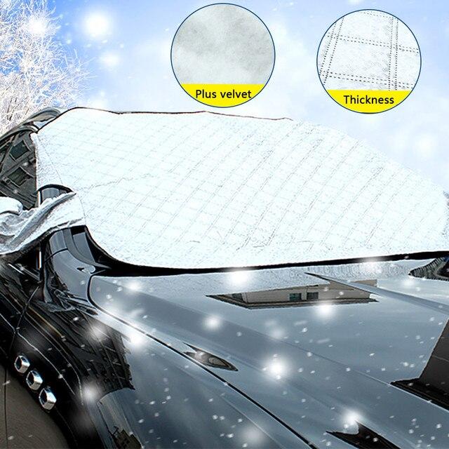 Sombra de sol do carro liberdade pára brisa completa capa pára sol do carro anti neve inverno automóvel cortina pára sol carro