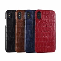 Gracemind 3D Crocodile Design Real Leather Case For IPhone X 8 8Plus 7 7Plus Cell Phone