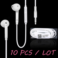 10 Pcs Lot For S6 Earphone In Ear Earpiece With Microphone For MP3 MP4 Samsung Galaxy