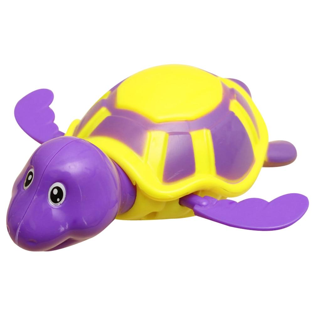 Bebek Çocuk Plastik Kaplumbağa Banyo Oyuncak Bebek Yüzmek Kaplumbağa Zincir Clockwork Dabbling Oyuncak Sevimli Karikatür Banyo Oyuncak