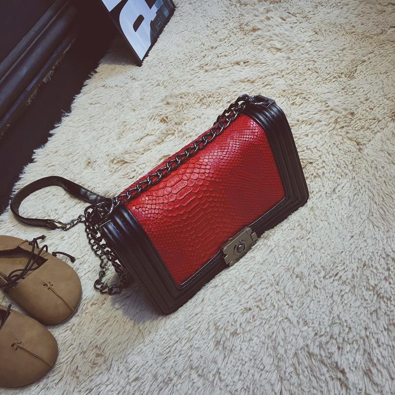 Mode Serpentine Women Bag Sequined Kedjor Axelväska Små Kvinnor - Handväskor - Foto 3