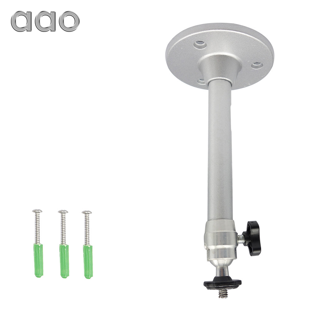 AAO 17cm 21cm Mini Projector Brackets 6mm Camera Aluminium Stand 360 Degree Swivel Mount Holder Wall Ceiling Mini 1KG Projector