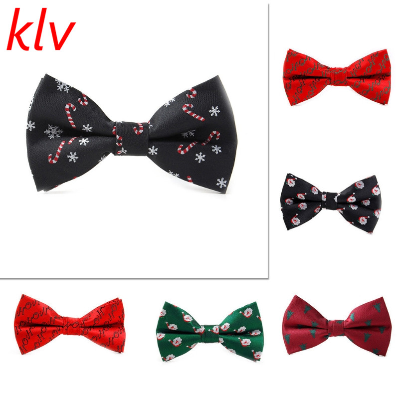 Men Christmas Holiday Bow Tie Pre Tie Adjustable Length