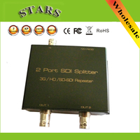 SDI Splitter 1x2 3G/HD/SDI repeater 2 Port SDI Splitter support 1080P 100M Distribution Extender,Free Shipping