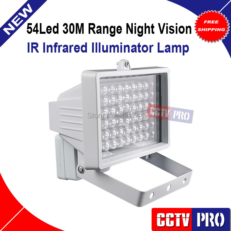 bilder für 30 mt 54 LED 12 V 8 Watt Nachtsicht Ir-infrarotscheinwerfer licht-lampe FÜHRTE Hilfs beleuchtung Für Sicherheit Cctv-kamera