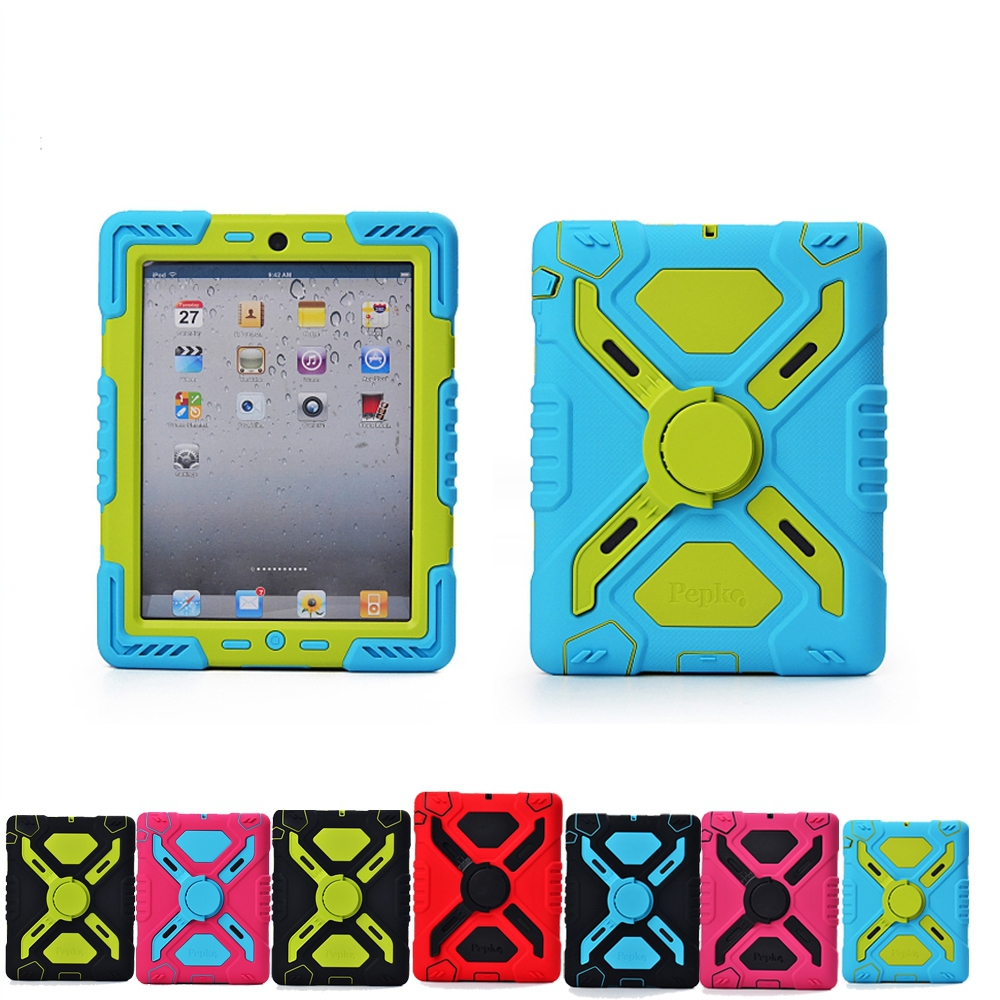 Pepkoo Spider Extreme Military Heavy Duty Waterproof Dust Shock Proof Cover For Fundas iPad Air 1 2 With Stand Hang Armor Case ip68 underwater waterproof case for iphone 7 6s 6 dirt dust snow proof cover pink
