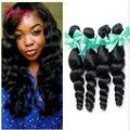 Free Shipping 7A Peruvian Loose Wave Virgin Hair 4 Bundles Peruvian Virgin Hair Weave Bundles Human Hair Peruvian Loose Wave